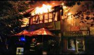 Restaurant mistuit de flăcări