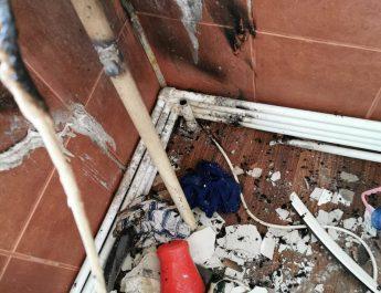 Explozie la bloc în Galați